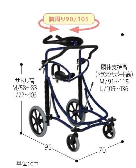 歩行補助器 メイウォークの画像