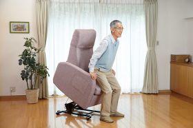 立ち上がり補助ができる椅子「リフトアップチェア400N」