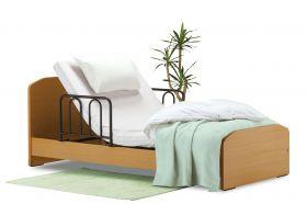 介護ベッド:TG-201F イーゼルR N 97cm幅シングルサイズ 背上げ機能 (SM-HAマット/専用サイドレール2本付き)