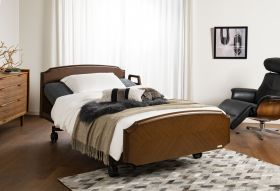 【非課税】高級家具調リクライニングベッド グランマックス GX-P302F [シングルサイズ]固定脚
