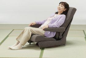 座いす型リフトアップチェア リクライニング1100  座椅子からの立ち上がりを補助