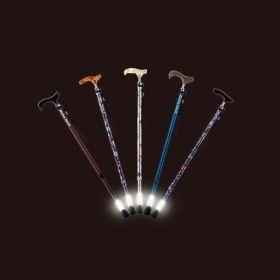 【アウトレット】杖先が光って安心。光る杖。ライトケイン(伸縮タイプ)