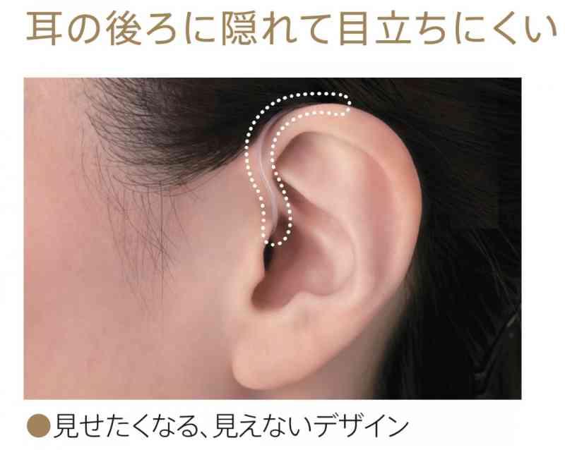 【ハイスペック:片耳用】耳かけ型補聴器 充電式耳かけ型 R4シリーズの画像