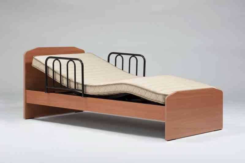 介護ベッド:TG-201F イーゼルR N 97cm幅シングルサイズ 背上げ機能 (SM-HAマット/専用サイドレール2本付き) の画像