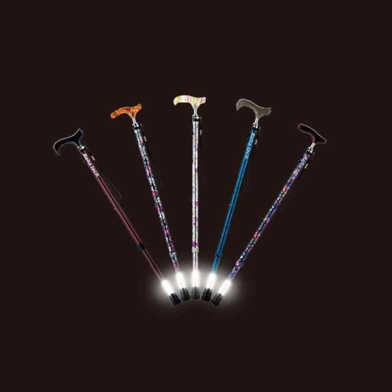 【アウトレット】杖先が光って安心。光る杖。ライトケイン(伸縮タイプ)の画像
