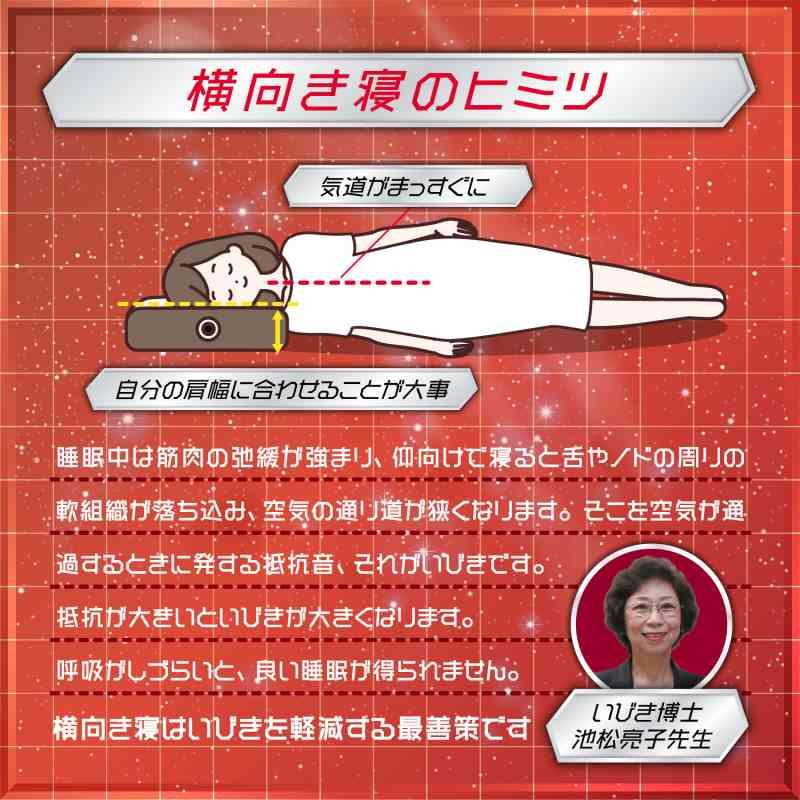 サイレントナイトピローII いびき博士・池松亮子先生監修横向き寝専用枕の画像