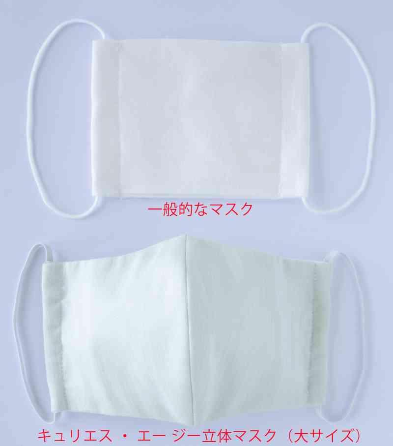 【夏仕様】除菌機能糸アグリーザ?を使用したマスク『キュリエス・エージー クールマスク(2枚入り)』の画像